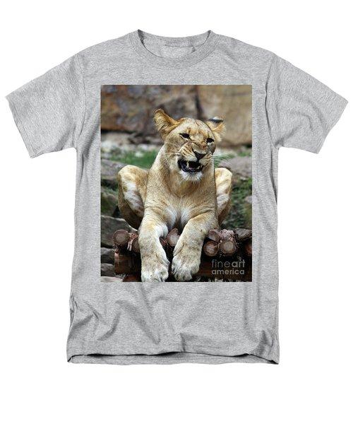 Lioness 2 Men's T-Shirt  (Regular Fit) by Inspirational Photo Creations Audrey Woods