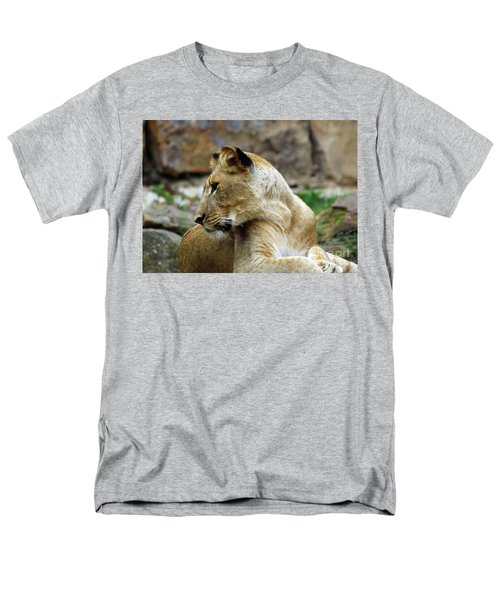Lioness Men's T-Shirt  (Regular Fit) by Inspirational Photo Creations Audrey Woods