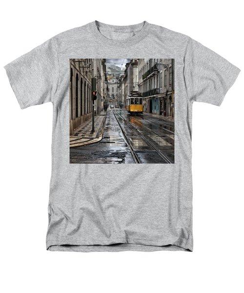 Men's T-Shirt  (Regular Fit) featuring the photograph Lisbon Streets by Jorge Maia