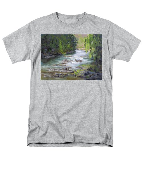 Men's T-Shirt  (Regular Fit) featuring the painting Little Creek by Karen Ilari