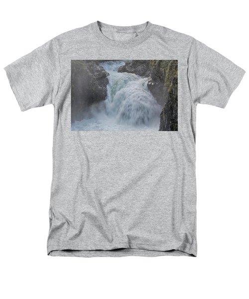 Men's T-Shirt  (Regular Fit) featuring the photograph Little Qualicum Upper Falls by Randy Hall