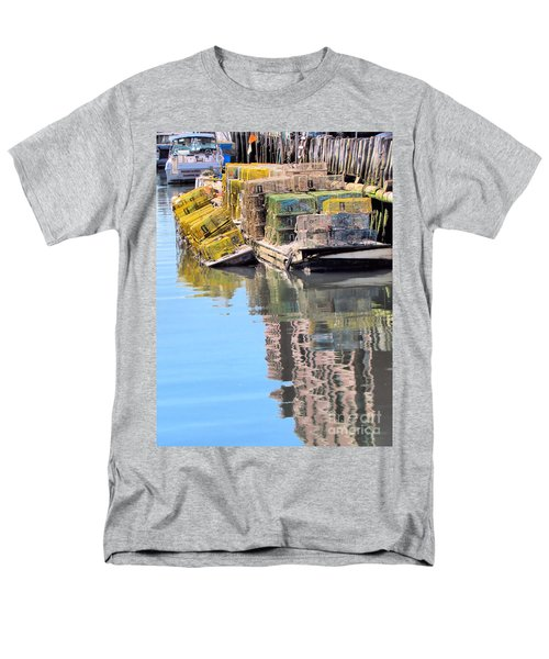 Lobster Traps Men's T-Shirt  (Regular Fit) by Elizabeth Dow
