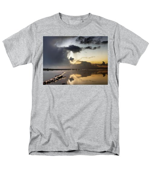 Log Pointing To Sunset Men's T-Shirt  (Regular Fit) by Greg Nyquist