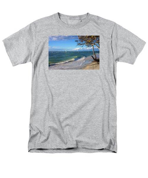 Lone Windsurfer At Wiggins Pass Men's T-Shirt  (Regular Fit)
