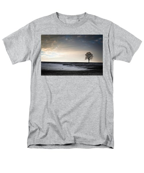 Men's T-Shirt  (Regular Fit) featuring the photograph Lonesome Tree On A Hill IIi by David Sutton