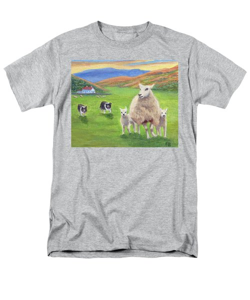 Men's T-Shirt  (Regular Fit) featuring the painting Look Back by Fran Brooks