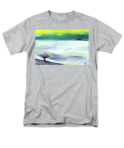 Men's T-Shirt  (Regular Fit) featuring the painting Looking Beyond by Anil Nene