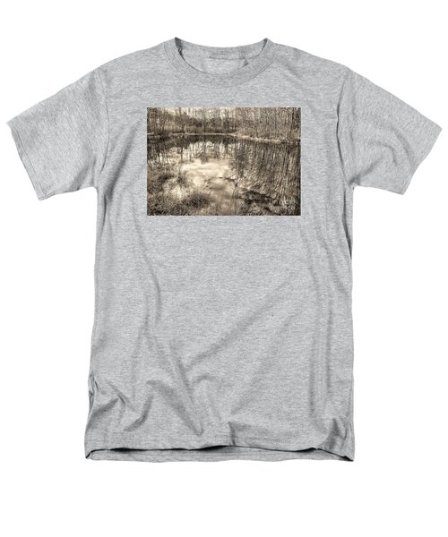 Men's T-Shirt  (Regular Fit) featuring the photograph Looking Down by Betsy Zimmerli