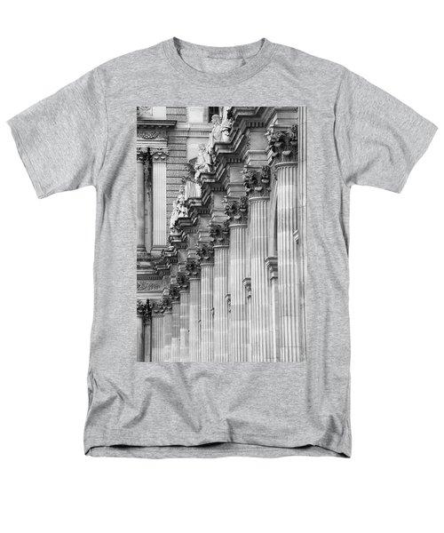 Men's T-Shirt  (Regular Fit) featuring the photograph Louvre Pillars, Paris, 2015 by Hitendra SINKAR
