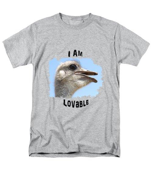 Lovable Men's T-Shirt  (Regular Fit) by Judi Saunders
