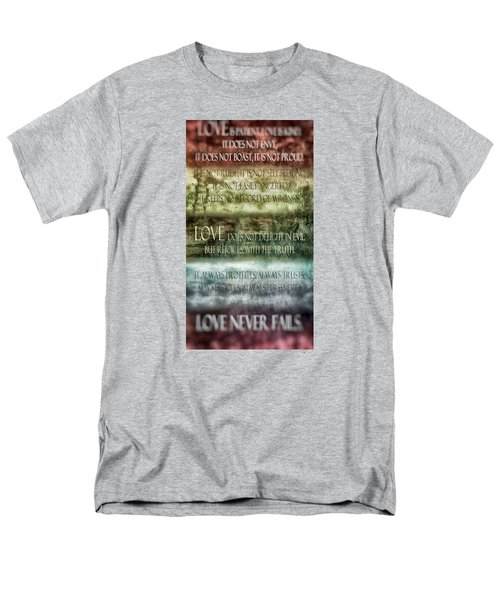 Men's T-Shirt  (Regular Fit) featuring the digital art Love Does Not Delight In Evil by Angelina Vick