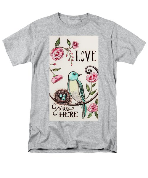 Love Grows Here Men's T-Shirt  (Regular Fit) by Elizabeth Robinette Tyndall