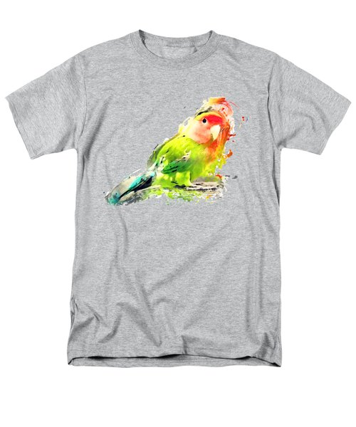 Lovebird Watercolor Painting Men's T-Shirt  (Regular Fit) by Justyna JBJart