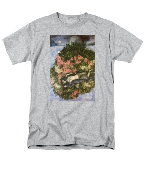 Lovers In The Lilacs Men's T-Shirt  (Regular Fit) by Marc Chagall