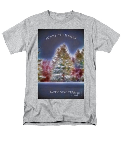Men's T-Shirt  (Regular Fit) featuring the photograph Merrry Christmas And Happy New Year by Jim Lepard