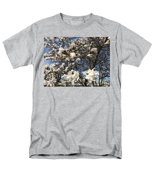 Men's T-Shirt  (Regular Fit) featuring the photograph Magnolia Tree In Blossom by Patricia Hofmeester