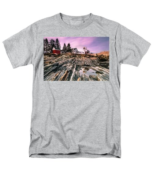 Maine Pemaquid Lighthouse Reflection In Summer Men's T-Shirt  (Regular Fit) by Ranjay Mitra
