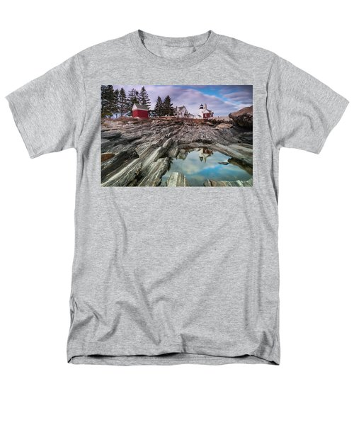 Maine Pemaquid Lighthouse Reflection Men's T-Shirt  (Regular Fit) by Ranjay Mitra