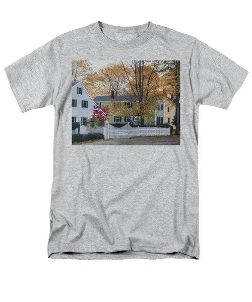 Autumn Day On Maine Street, Kennebunkport Men's T-Shirt  (Regular Fit)