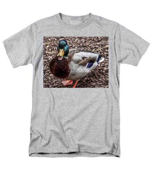 Men's T-Shirt  (Regular Fit) featuring the photograph Mallard Duck by Joann Copeland-Paul