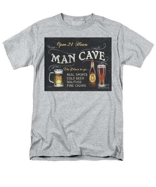 Man Cave Chalkboard Sign Men's T-Shirt  (Regular Fit) by Debbie DeWitt