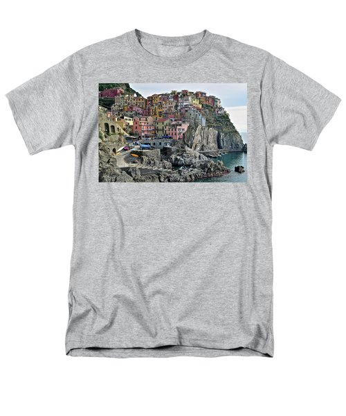 Men's T-Shirt  (Regular Fit) featuring the photograph Manarola Version Two by Frozen in Time Fine Art Photography