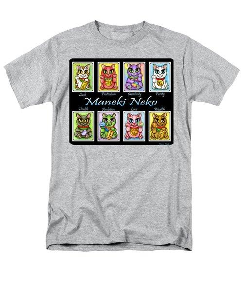 Maneki Neko Luck Cats Men's T-Shirt  (Regular Fit) by Carrie Hawks