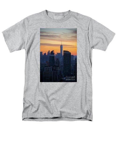 Manhattan Skyline At Dusk Men's T-Shirt  (Regular Fit) by Diane Diederich