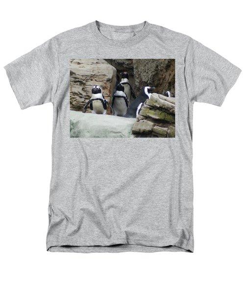 March Of The Penguins Men's T-Shirt  (Regular Fit) by B Wayne Mullins