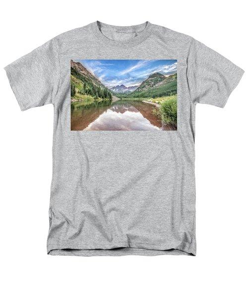Maroon Bells Near Aspen, Colorado Men's T-Shirt  (Regular Fit) by Peter Ciro