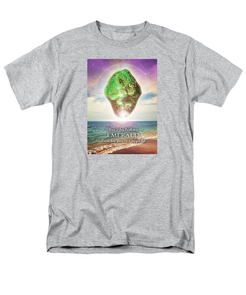 May Birthstone Emerald Men's T-Shirt  (Regular Fit)