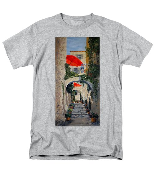 Men's T-Shirt  (Regular Fit) featuring the painting Medieval Steps At St Paul De Vence by Marilyn Zalatan