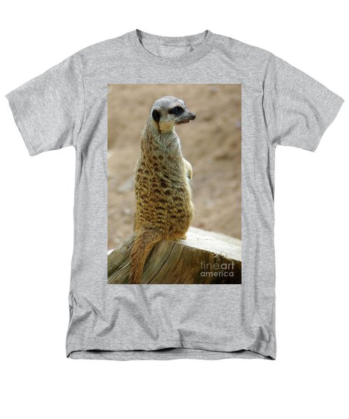 Meerkat Portrait Men's T-Shirt  (Regular Fit) by Carlos Caetano