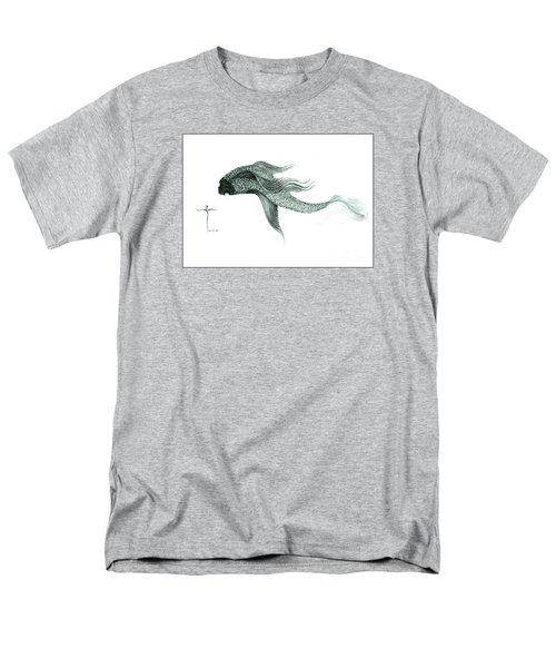 Men's T-Shirt  (Regular Fit) featuring the drawing Megic Fish 1 by James Lanigan Thompson MFA