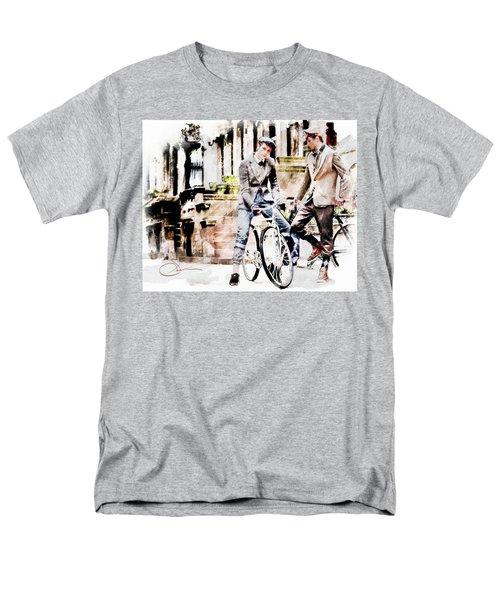Men On Bikes Men's T-Shirt  (Regular Fit) by Robert Smith