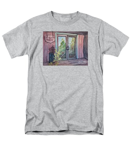 Men's T-Shirt  (Regular Fit) featuring the painting Mercier Orchards' Cider by Gretchen Allen