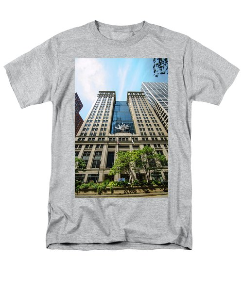Men's T-Shirt  (Regular Fit) featuring the photograph Michael A Bilandic Building Chicago by Deborah Smolinske
