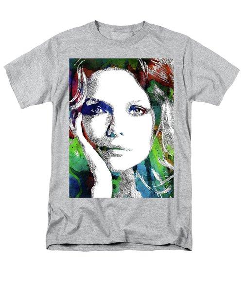 Michelle Pfeiffer Men's T-Shirt  (Regular Fit) by Mihaela Pater