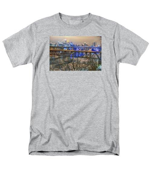 Minneapolis Bridges Men's T-Shirt  (Regular Fit) by Craig Voth