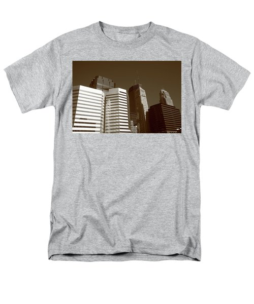 Men's T-Shirt  (Regular Fit) featuring the photograph Minneapolis Skyscrapers 5 Sepia by Frank Romeo