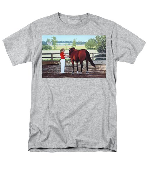 Men's T-Shirt  (Regular Fit) featuring the painting Mirage Of Wassini by Kenneth  Kirsch