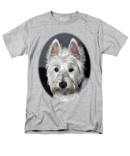 Mischievous Westie Dog Men's T-Shirt  (Regular Fit) by Bob Slitzan