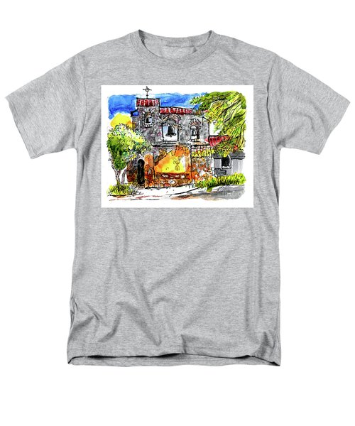 Men's T-Shirt  (Regular Fit) featuring the painting Mission San Miguel by Terry Banderas