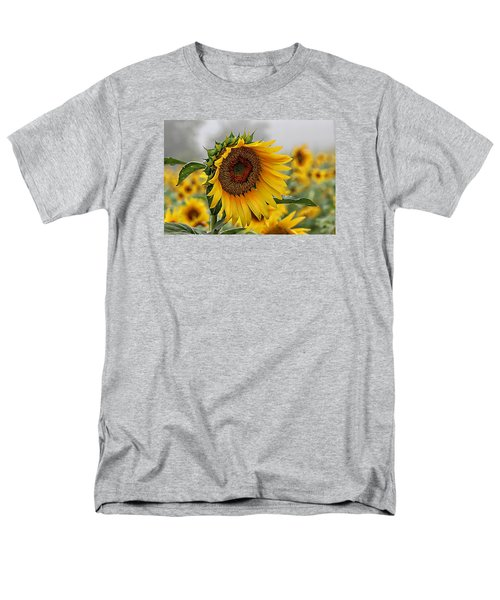 Misty Morning Sunflower Men's T-Shirt  (Regular Fit) by Karen McKenzie McAdoo