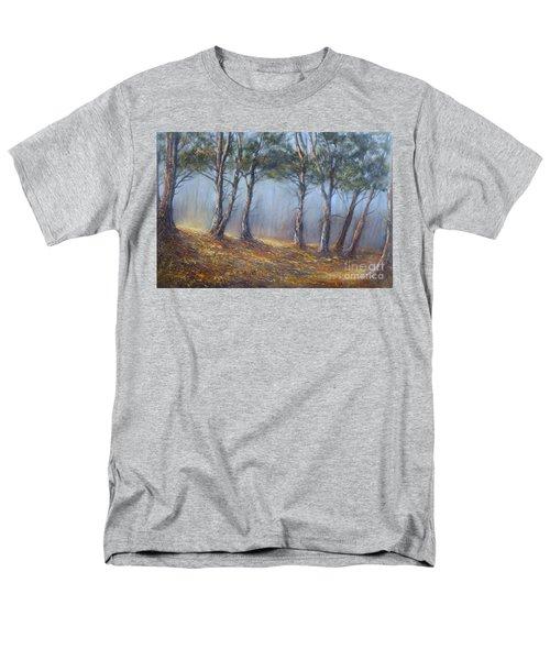 Misty Pines Men's T-Shirt  (Regular Fit) by Valerie Travers