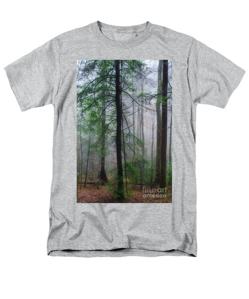 Misty Winter Forest Men's T-Shirt  (Regular Fit) by Thomas R Fletcher