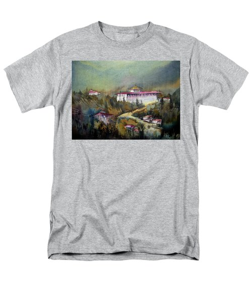Monastery In Mountain Men's T-Shirt  (Regular Fit) by Samiran Sarkar