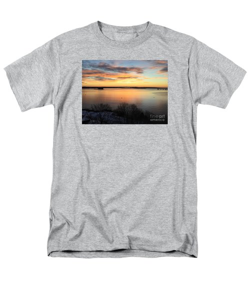 Monday, Monday Sunrise January 25, 2016 Men's T-Shirt  (Regular Fit) by Patricia E Sundik