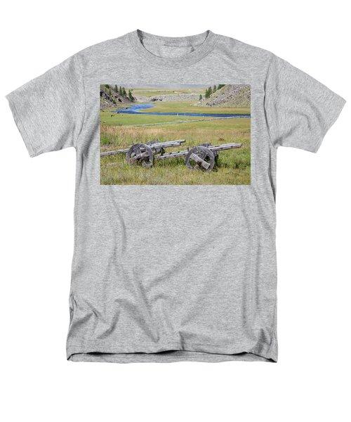 Men's T-Shirt  (Regular Fit) featuring the photograph Mongolian Ox Carts by Hitendra SINKAR
