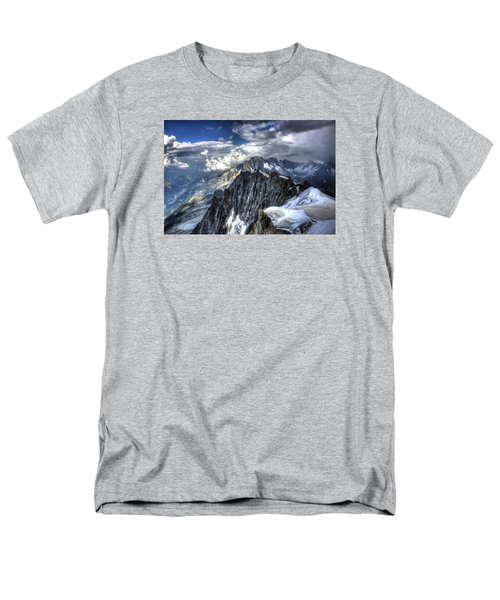 Mont Blanc Near Chamonix In French Alps Men's T-Shirt  (Regular Fit) by Shawn Everhart